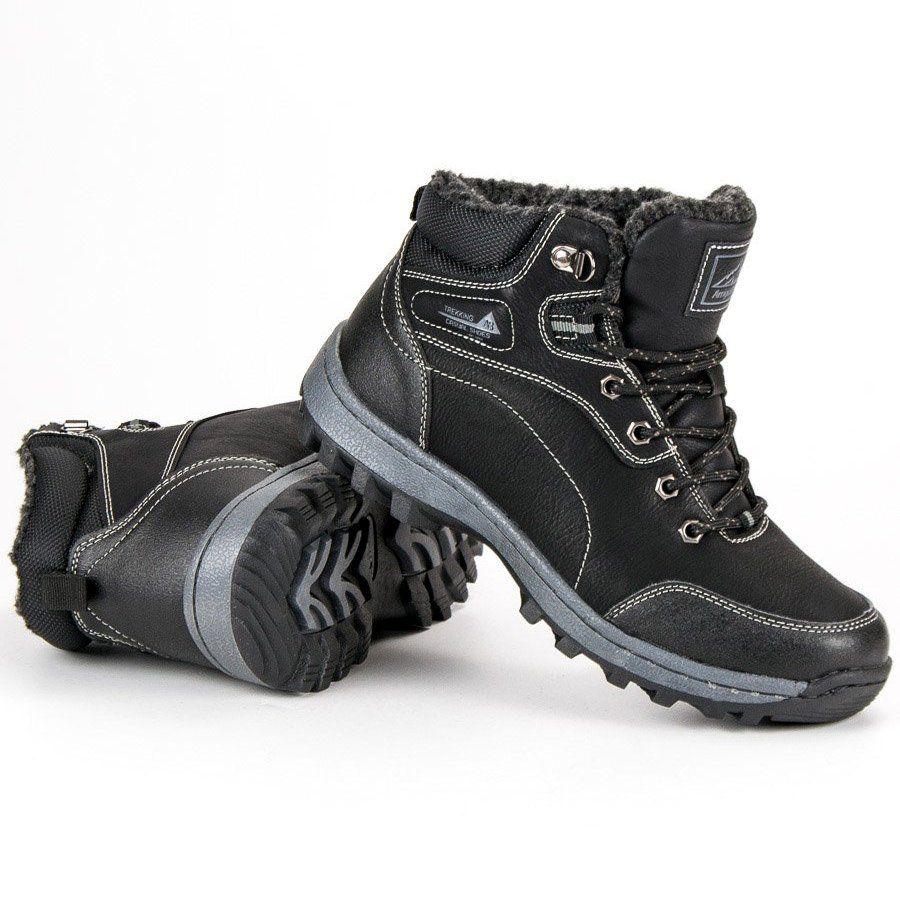 Trekkingowe Meskie Arrigobello Arrigo Bello Czarne Meskie Buty Zimowe Boots Men S Shoes Shoes