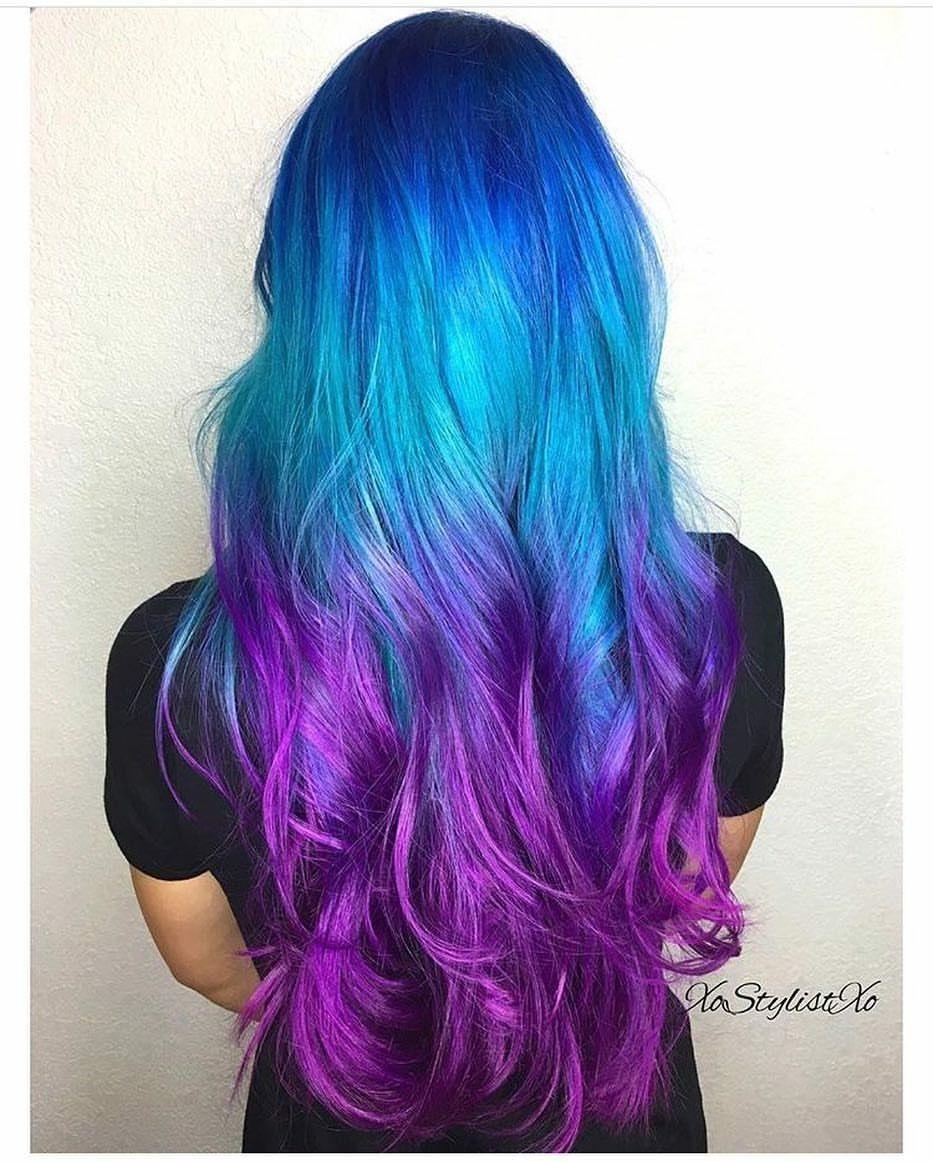 Pulp riot mermaid bright hair colour u curls mermaid hair color
