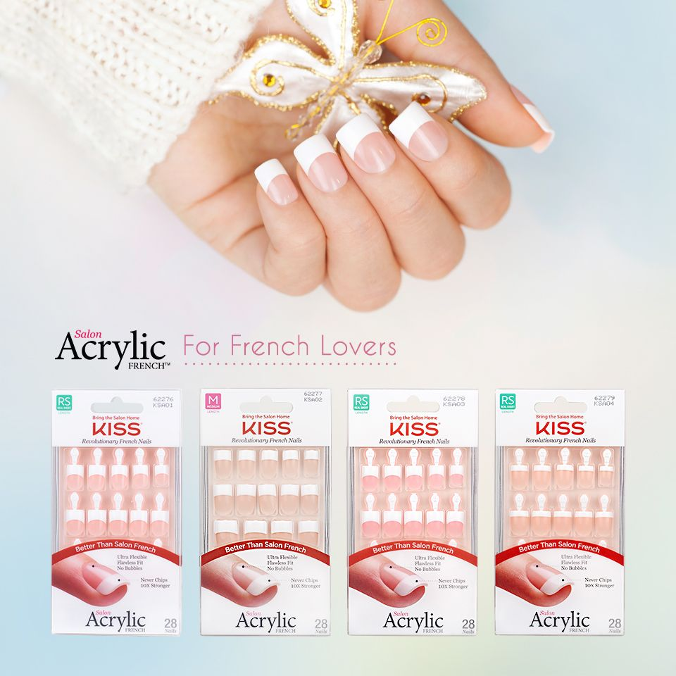 Impress press on manicure nails my style pinterest - Style Your Nails With Salon Acrylic French