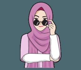 Gorgeous Hijab Girl 2 Line Stickers Line Store Gadis Lucu