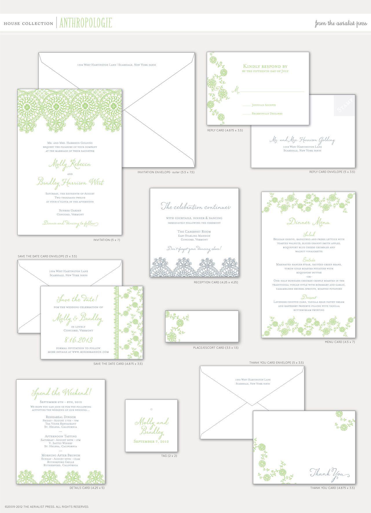 Aerialist press anthropologie letterpress wedding invitation