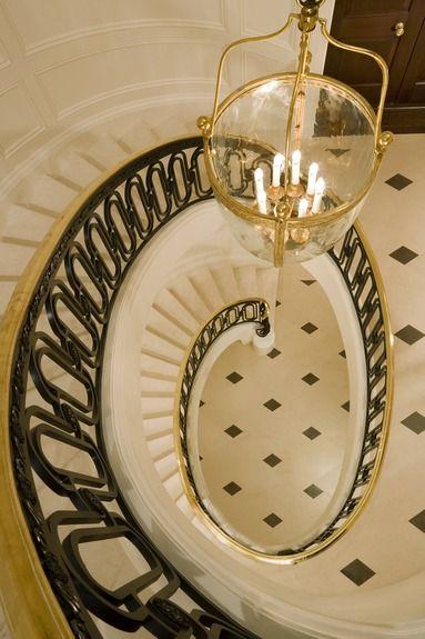 Best Spiral Staircase Decorative Iron Railing Black White 400 x 300