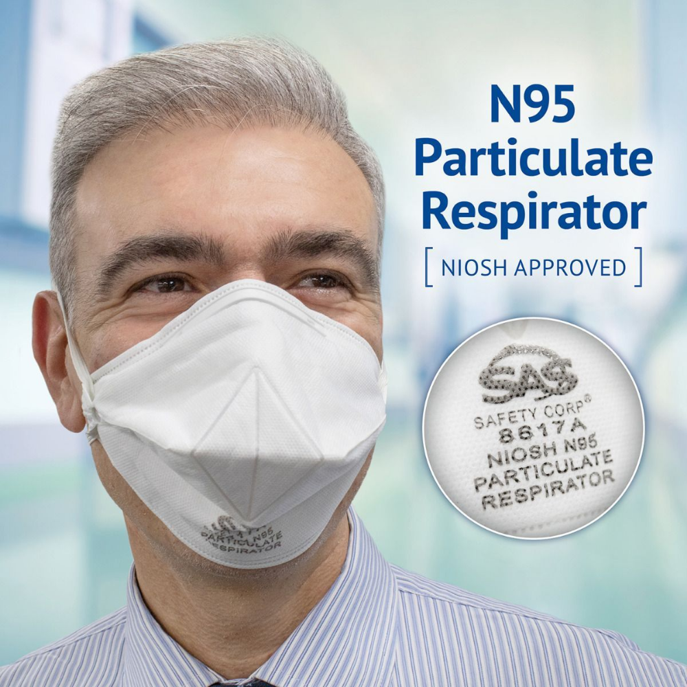 Niosh N95 Foldable Type Respirator Face Mask [Pack of 5