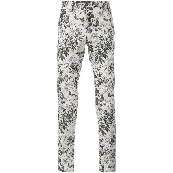 a0f12c9f8a16 Gucci tailored floral print trousers ( 705) ❤ liked on Polyvore featuring  men s fashion