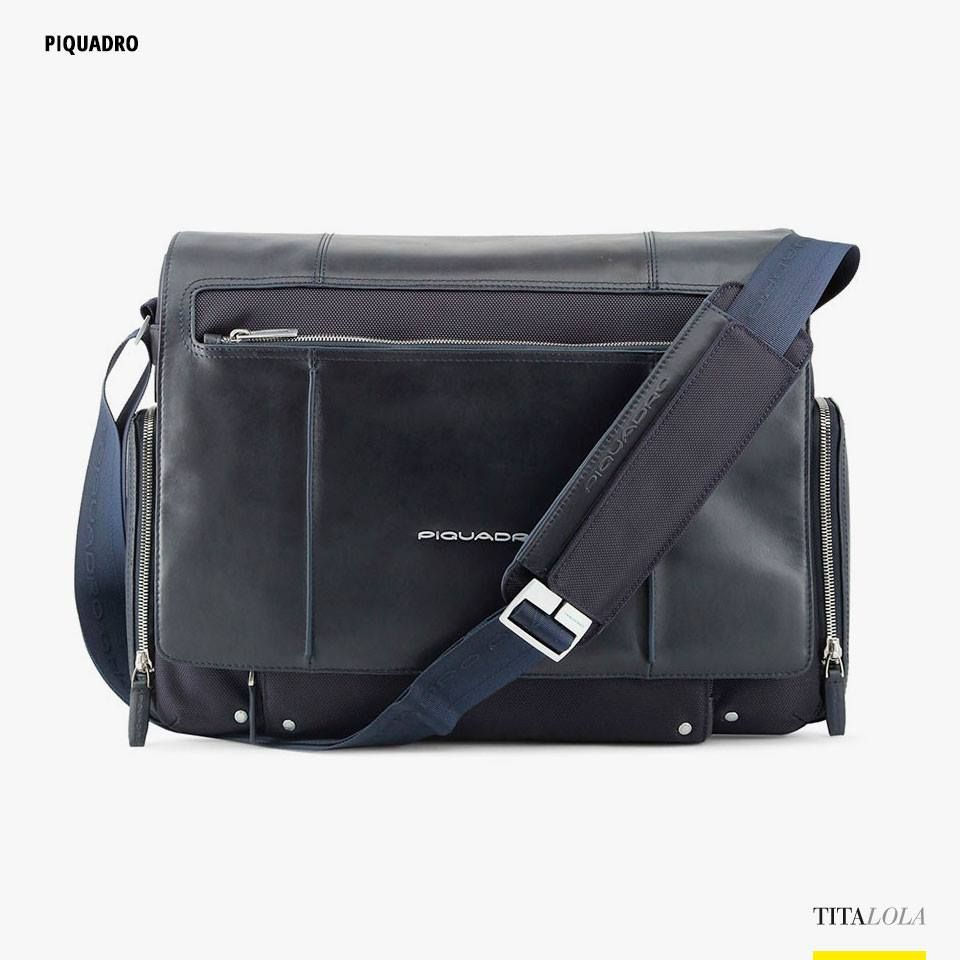 b33a977a9a Borsa a tracolla uomo PIQUADRO CA1592LK Blu | Deals of the day ...