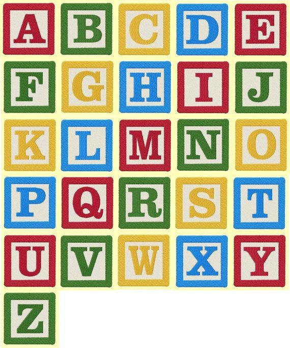 4 Inch Building Block Letters And Numbers Machine Embroidery Designs