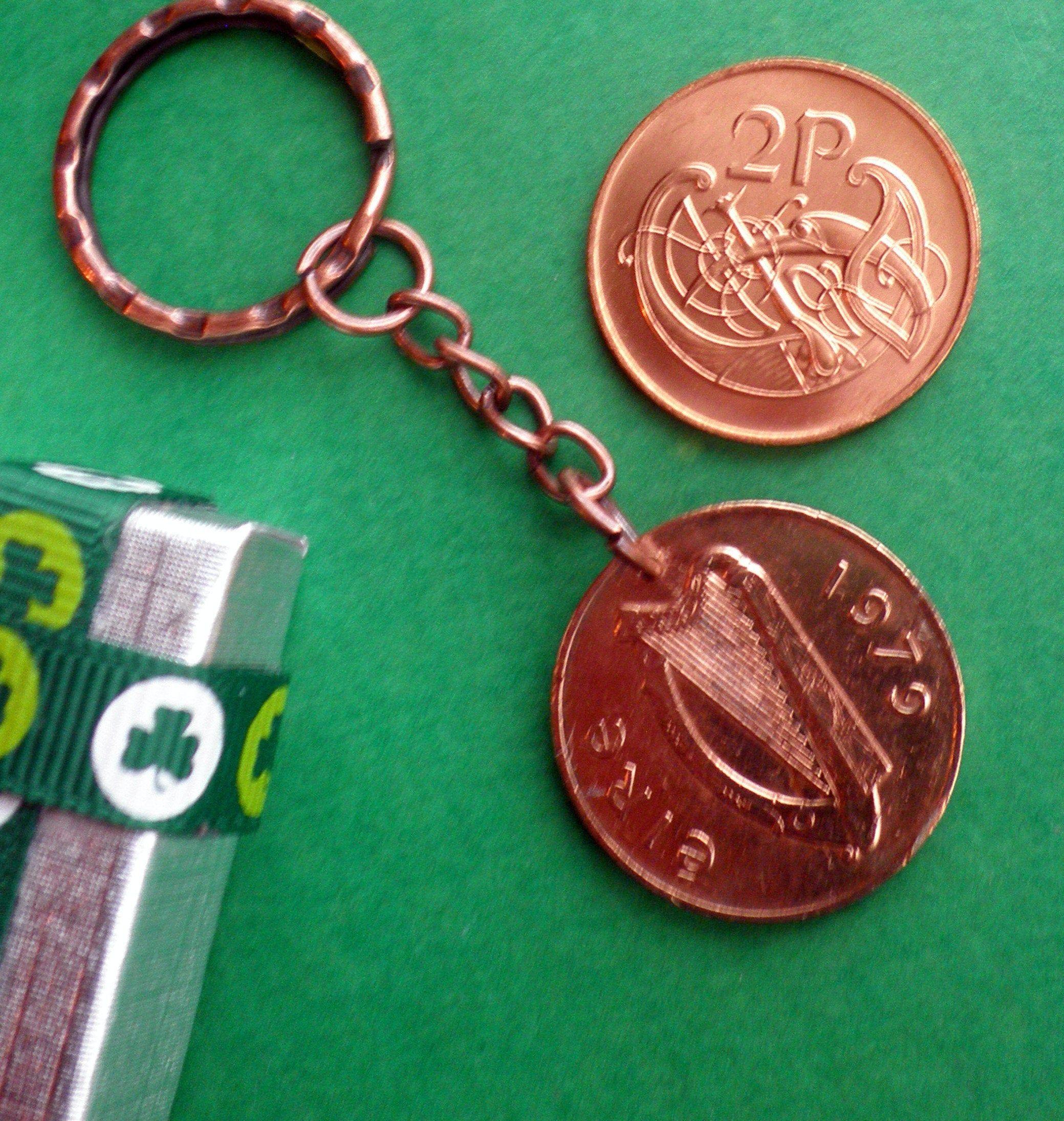 40th Irish Birthday, 1979 Anniversary, Irish coin keychain