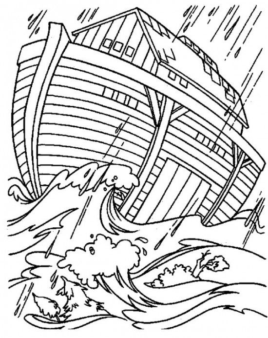 Printable Noahs Ark Coloring Pages For Kids Picture 7 Free Bible