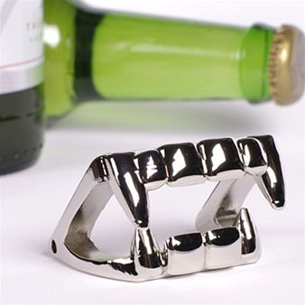 This bottle opener really BITES! (We crack ourselves up.) Find more gifts for guys here: http://glmr.me/uHeO2l