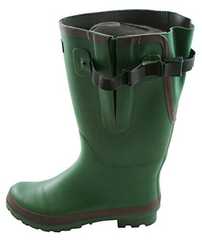 2be5817677a4 Jileon Extra Wide Calf Rubber Green Rain Boots for WomenWidest Fit Boots in  the USup to 21 inch calvesWide in the Foot and AnkleDurable Boots for All  ...