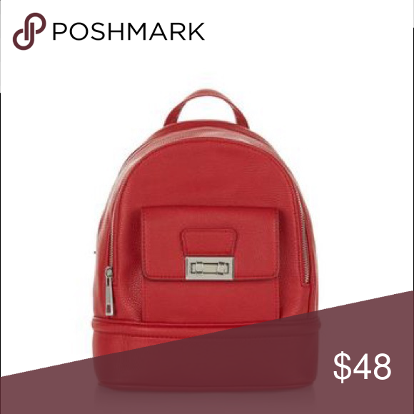 c449e3678ed6 Faux Leather Red Mini Backpack No flaws
