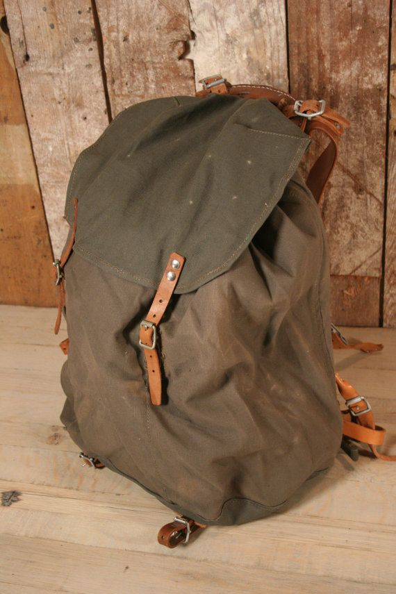 Vintage Swedish Military Canvas & Leather by BrothersOfIndustry, $100.00