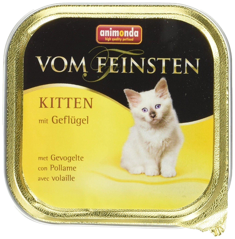 Animonda Vom Feinsten Katzenfutter Kitten Mit Geflugel 32 X 100g Amazon De Haustier Vom Feinsten Katzen Futter Katzenfutter