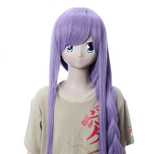Surewells Nice Wigs Long Straight Light Brown Wigs Oblique