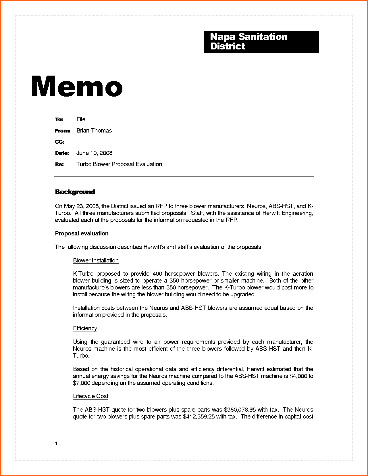 Business Memo Example Contract Template Sample Memorandum Home