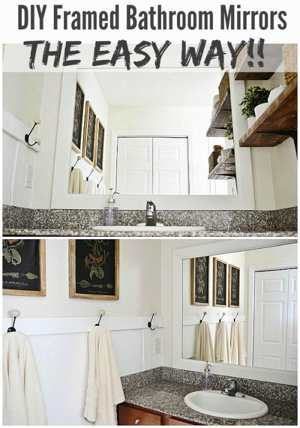 DIY Framed Bathroom Mirrors   Frame bathroom mirrors, Diy frame and ...
