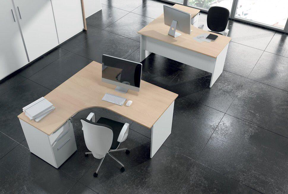 Mobili Ufficio Ante Scorrevoli.Comp Tkn015 Arredo Ufficio Operativo Con Doppia Workstation