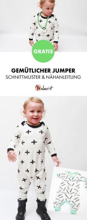 Gratis Anleitung: Jumper für Kinder nähen - Schnittmuster und ...