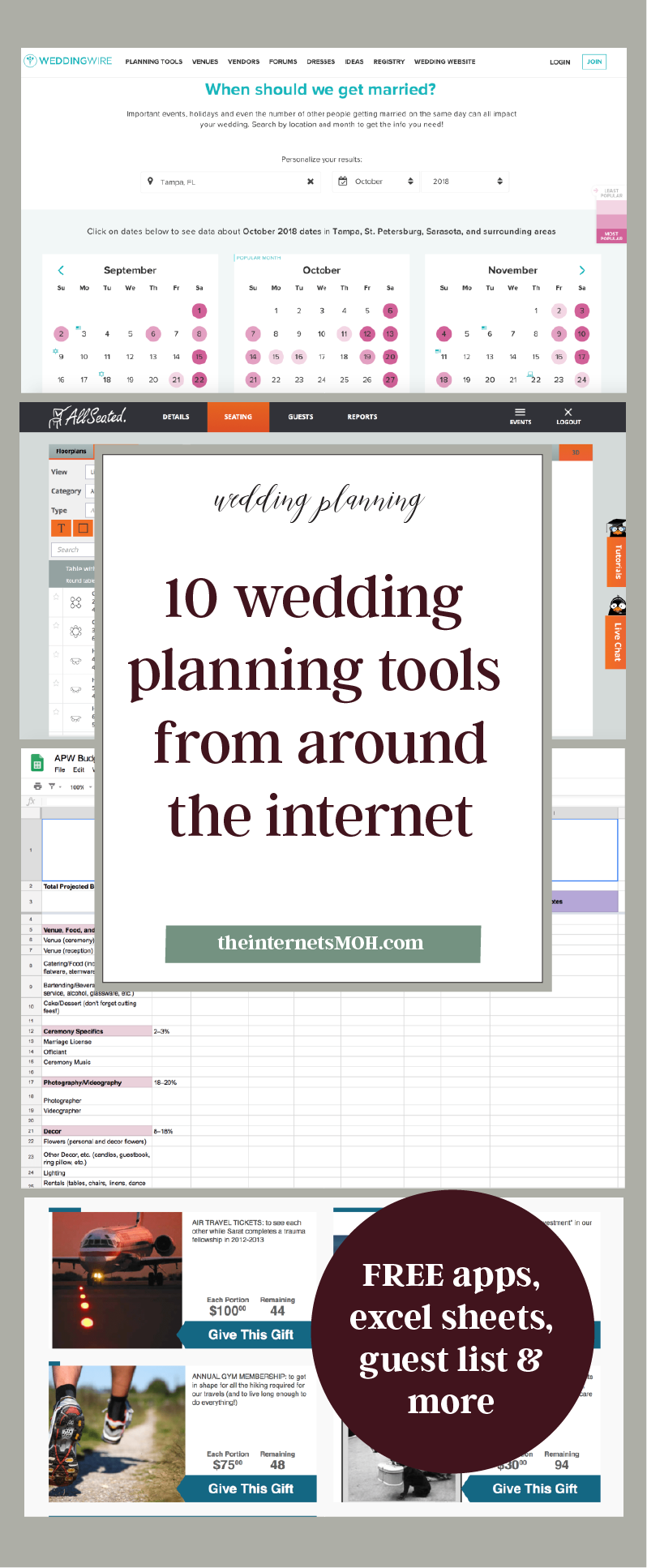 10 wedding planning tools from around the internet someday