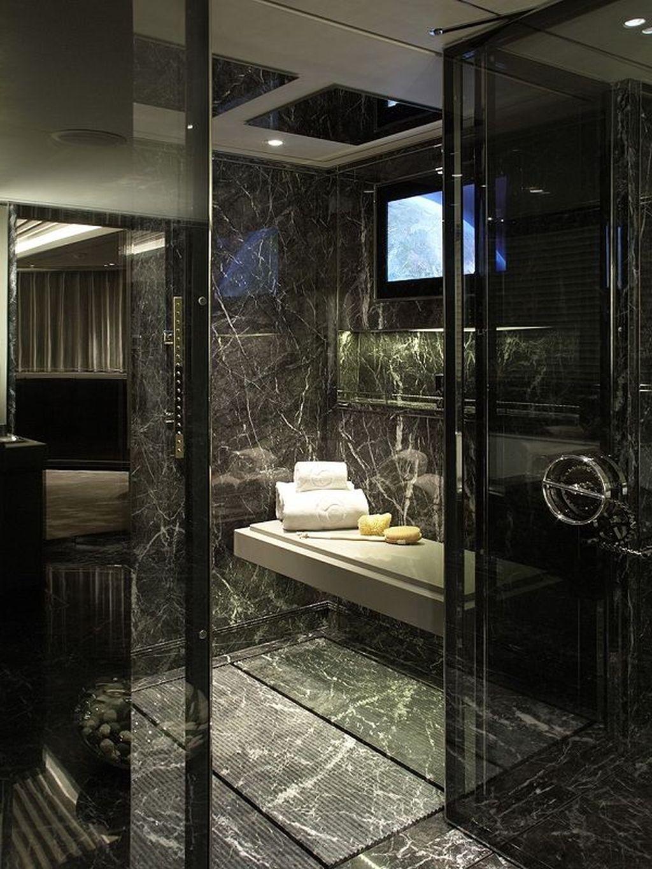 48 Beautiful Black Marble Bathroom Design Ideas To Looks Classy Black Marble Bathroom Marble Bathroom Designs Bathroom Design