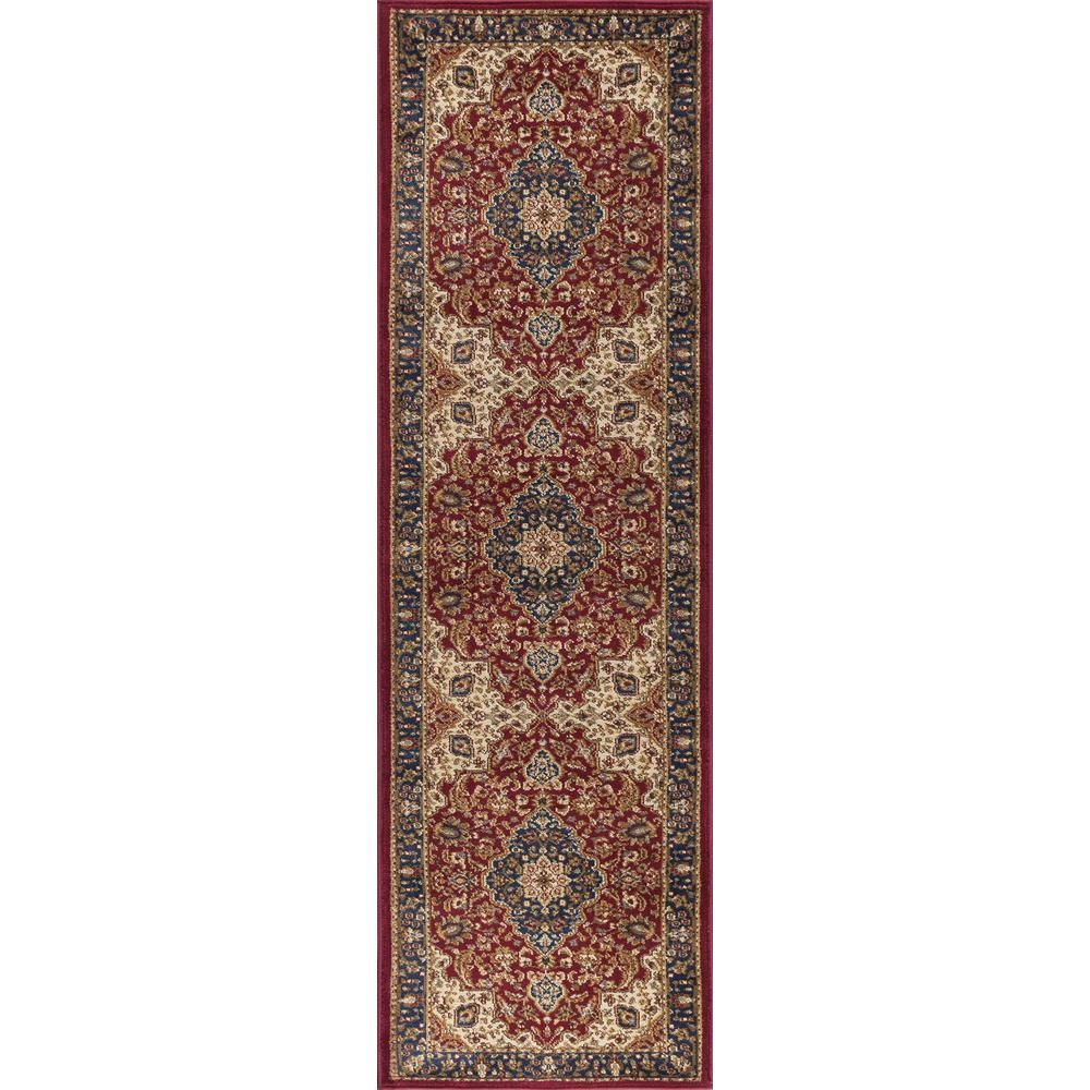Tayse Rugs Sensation Black 2 Ft X 10 Ft Runner Rug Red In 2019 Products Rugs Area Rugs Rug Runner