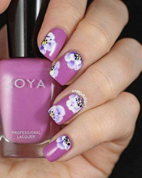 awesome white flowers nail art
