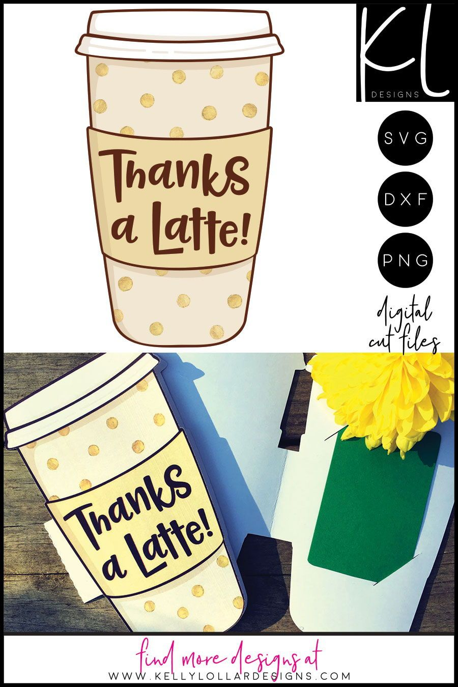 Freebie Friday Thanks A Latte Gift Card Holder Latte Gift Thanks A Latte Coffee Gifts Card