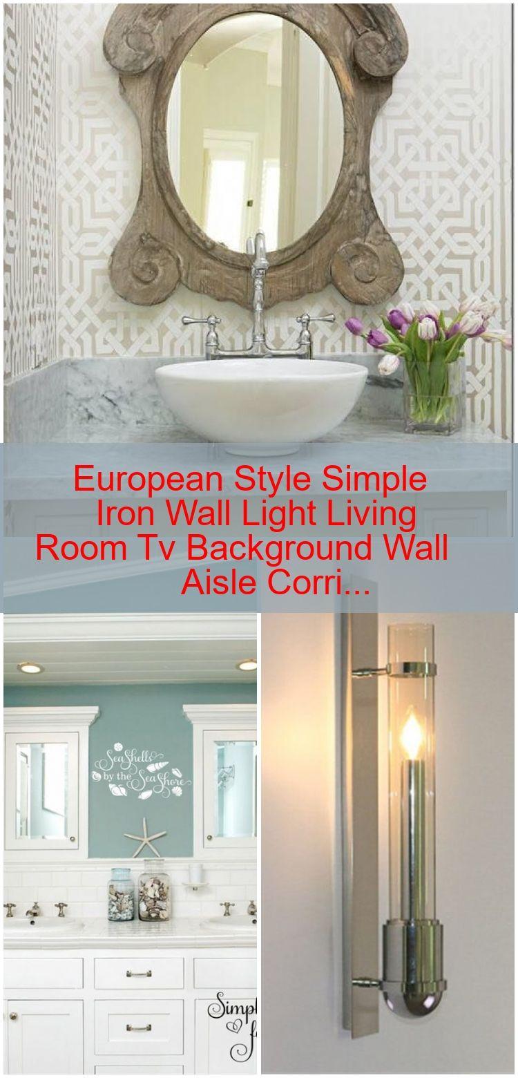 Europaischen Stil Einfache Eisen Wandleuchte Wohnzimmer Tv