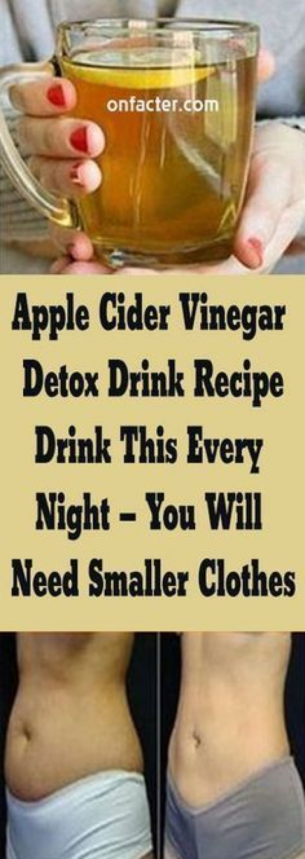 Apple Cider Vinegar Detox Drink Recipe:- Drink This Every Night  You Will Need Smaller Clothes #fitn...