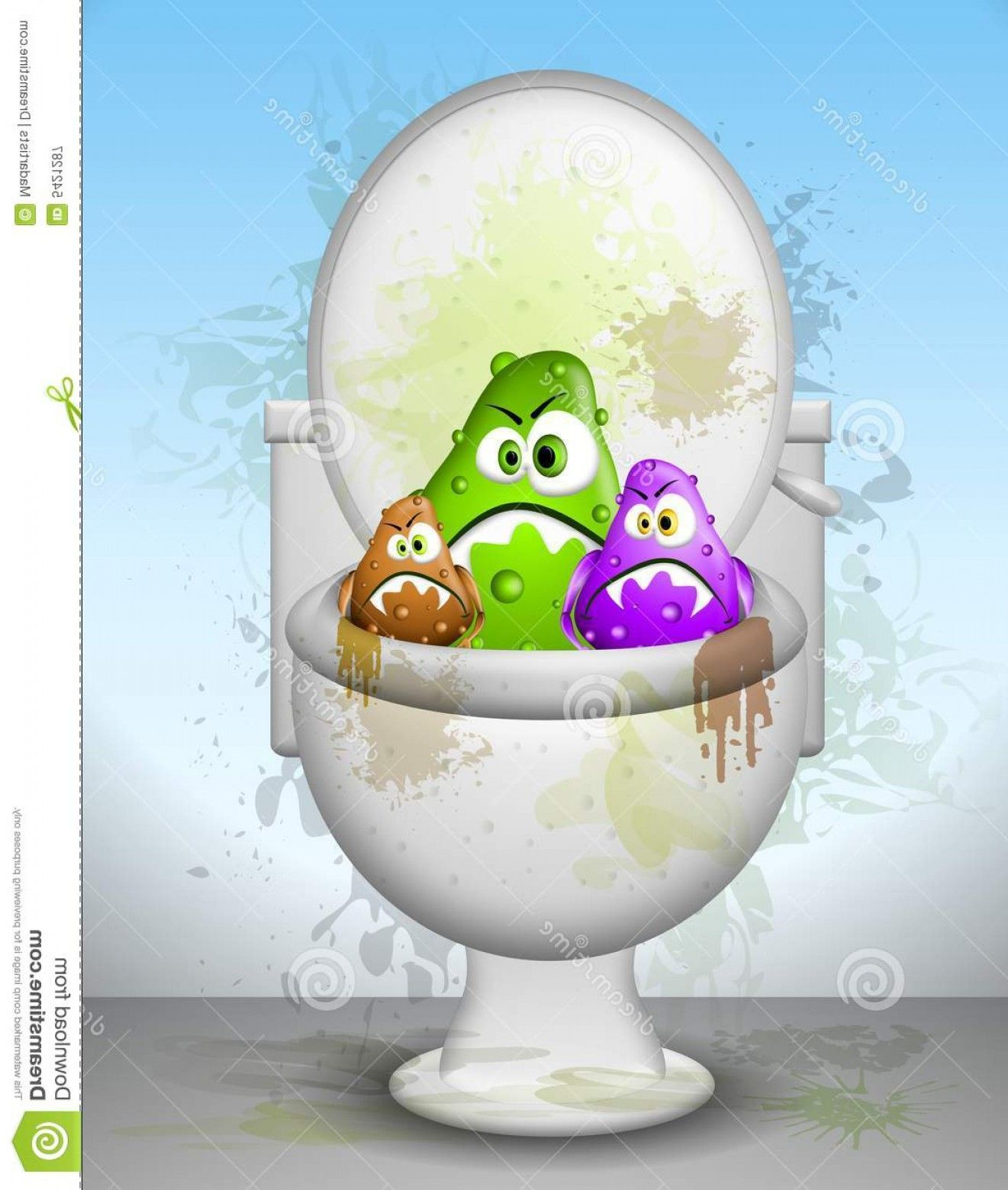Dirty Bathroom Pics: Cartoons Dirty Bathrooms: Royalty Free Stock Photography