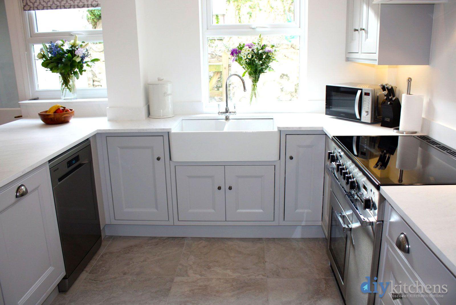 An Innova Tockwith Dove Grey Inframe Kitchen. Cheap