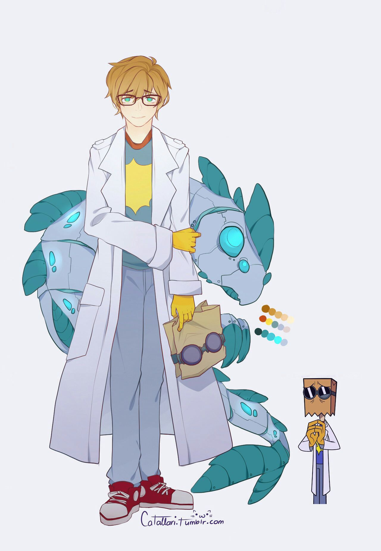 Aww Dr Flug looks so cute but is that his canon face