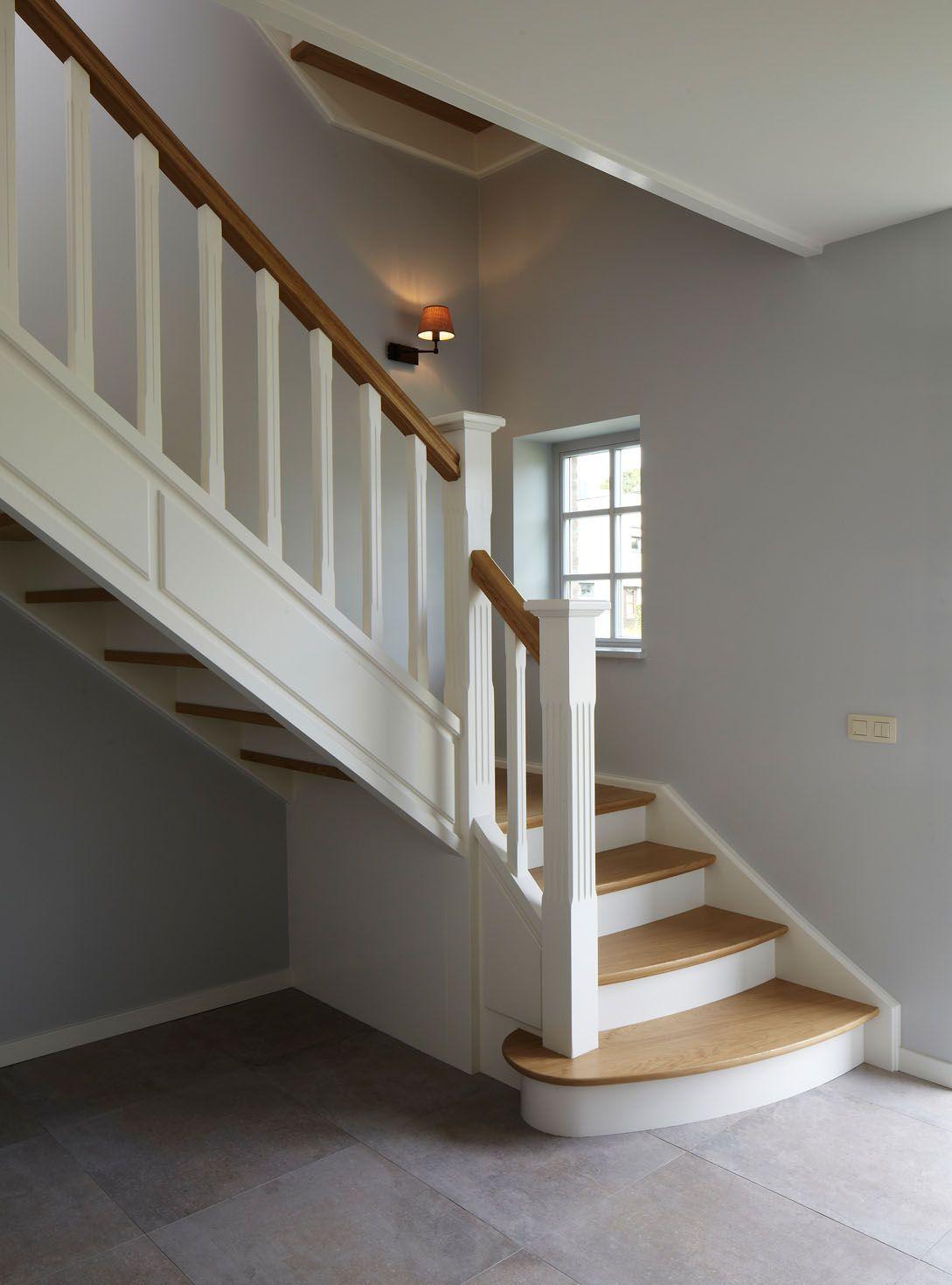 Landelijke trap landelijk wonen pinterest - Moderne trap kwartslag ...