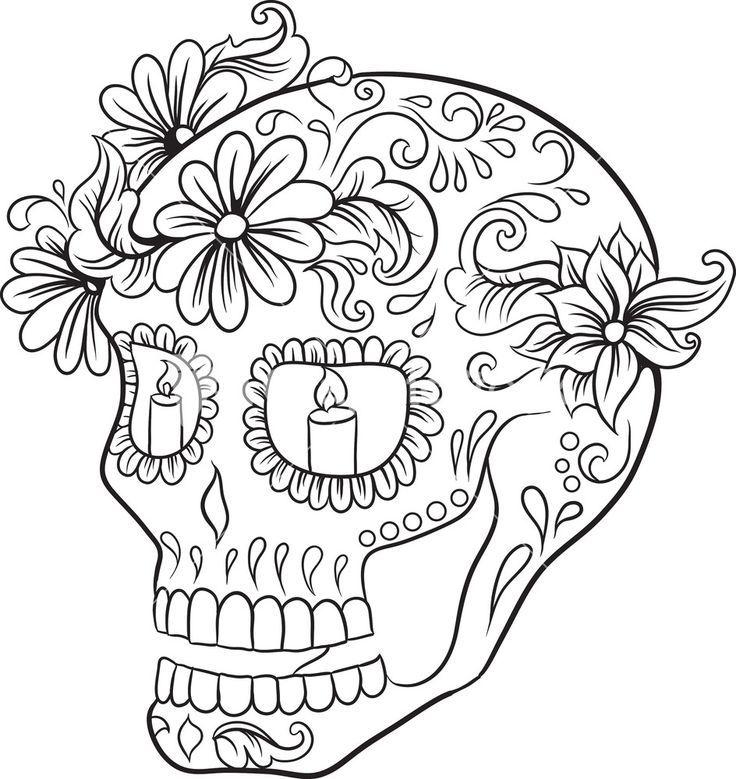 bildergebnis für malvorlagen sugar skull  skull coloring