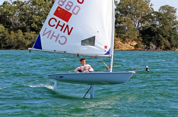 A Laser That Foils Sail Magazine Nautical Innovation
