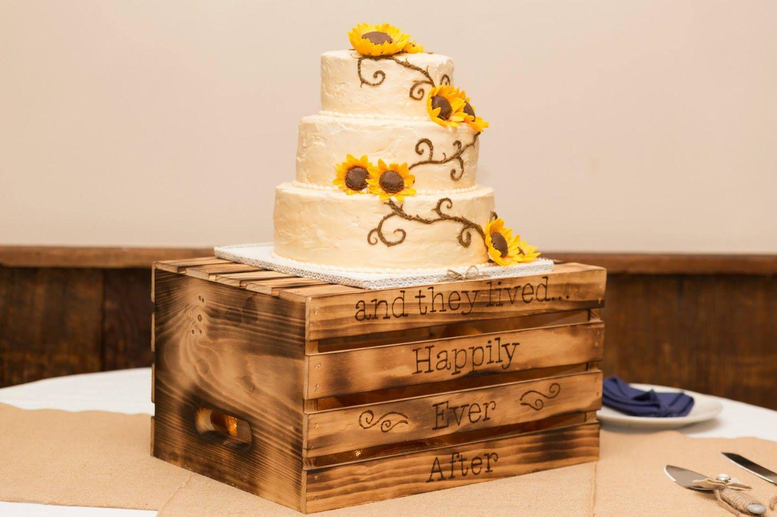Samantha's Sweets: Rustic Sunflower Wedding Cake
