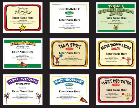 Cheerleading certificates and cheerleader award templates cheerleading certificates and cheerleader award templates yadclub Images