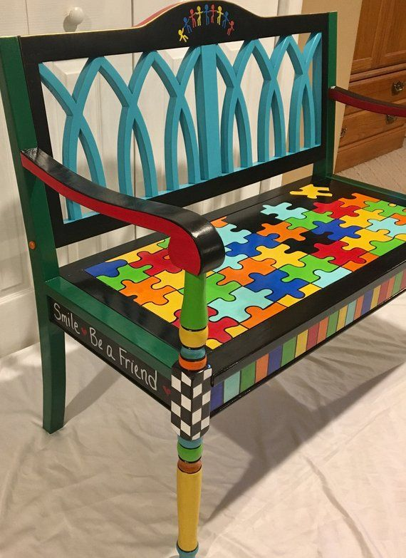 Whimsical Painted Furniture, Whimsical Painted Ben