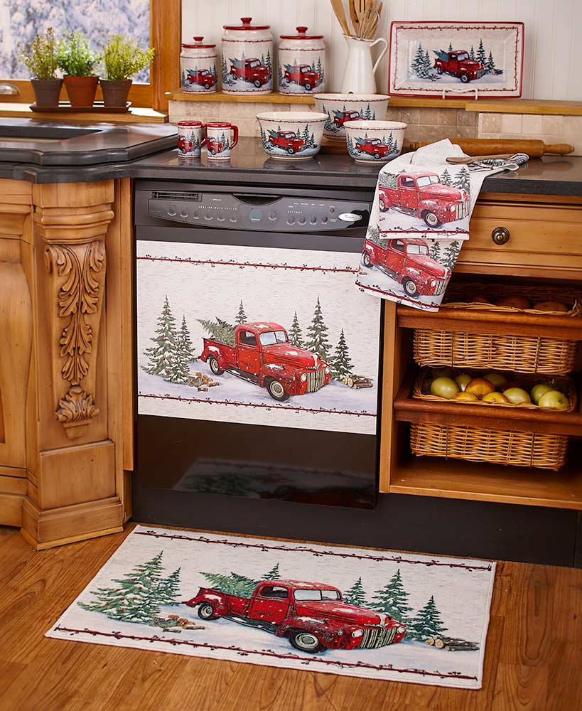 vintage country kitchen collection christmas kitchen decor outdoor christmas red truck decor on outdoor kitchen vintage id=14660