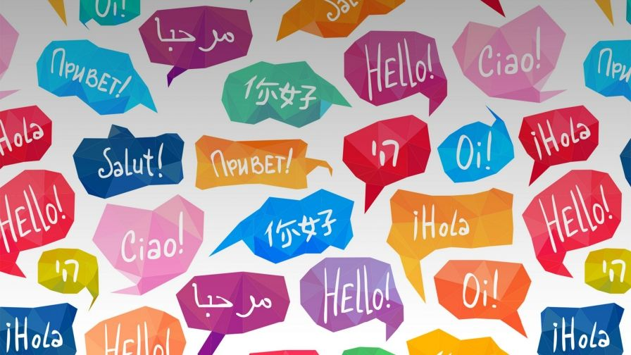 Saying Hello In Different Languages QHD Wallpaper