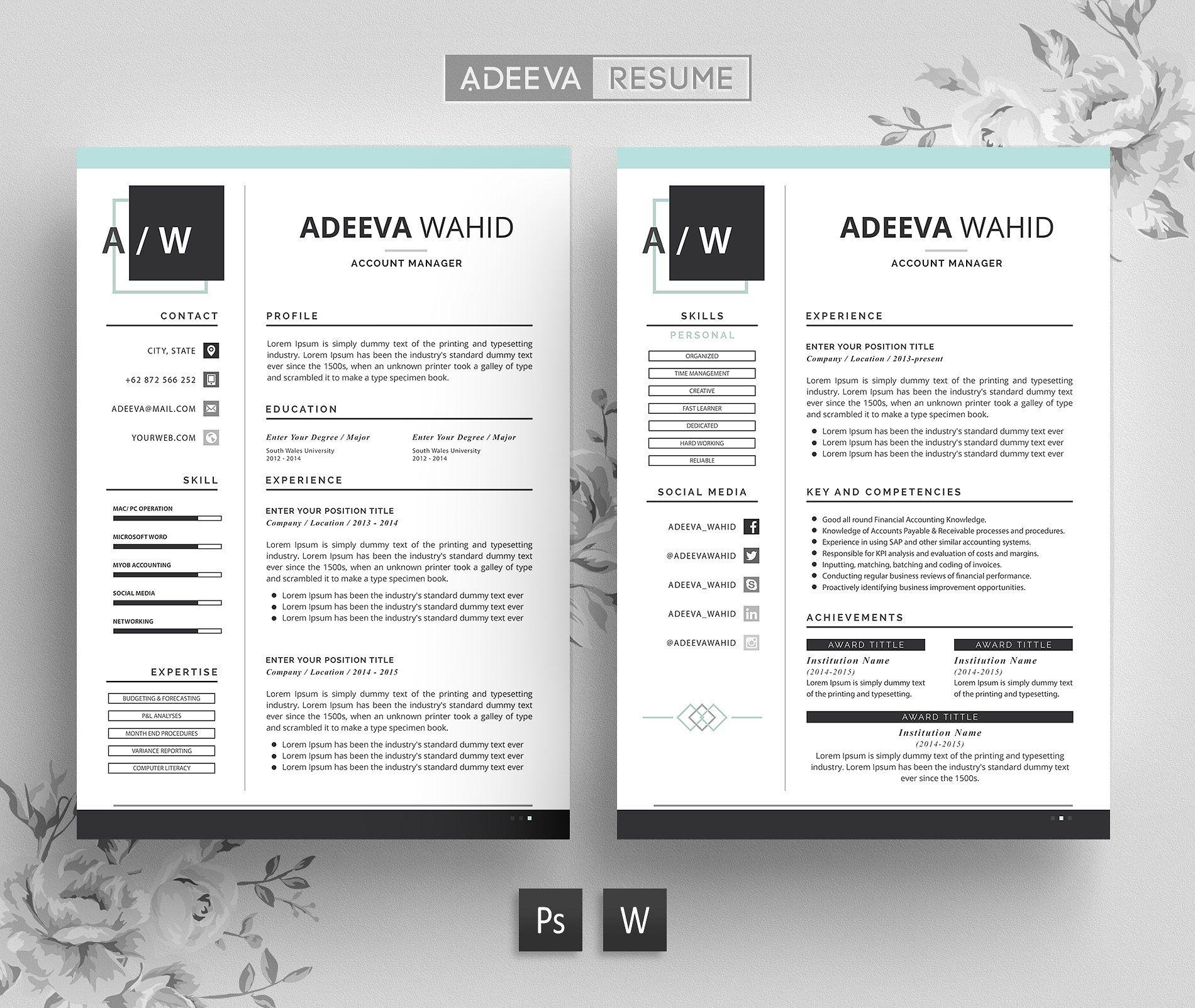 Simple Resume Template Wahid Simple Resume Template Simple Resume Resume Template