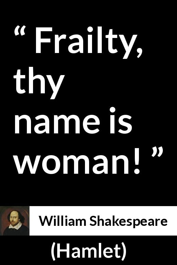 William Shakespeare About Women Hamlet 1623 Book Quotes