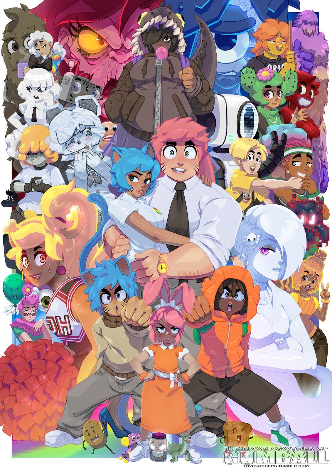 Amazing world of gumball anime version