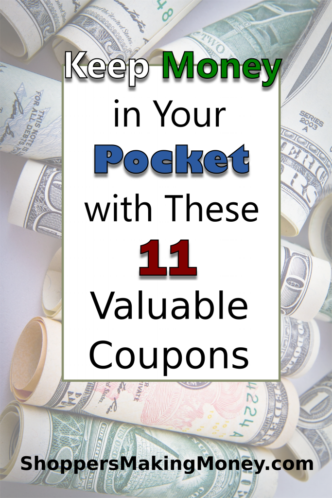 Keep Money in Your Pocket with These 11 Valuable Coupons