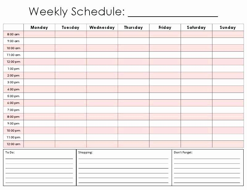 One Day Schedule Template Best Of Printable Blank Calendar Template E Day 60 Insanity 4 Daily Schedule Template Weekly Schedule Weekly Schedule Template Excel