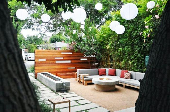 Gartenmöbel modern  terrassenüberdachung feuerstelle gartenmöbel modern pergola ...