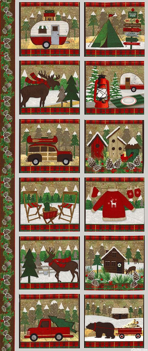 Woodland Retreat Country Christmas 24 Quot X 44 Quot Flannel