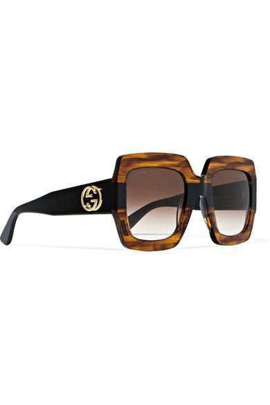 854592c6c0dcb Gucci - Oversized square-frame tortoiseshell acetate sunglasses ...
