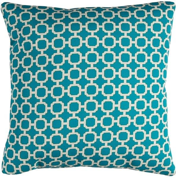 Blue Chainlink Outdoor Pillow ($30) ❤ liked on Polyvore featuring home, outdoors, outdoor decor, outdoor garden decor, outdoor throw pillows, indoor outdoor pillows, blue outdoor throw pillows and outdoor accent pillows