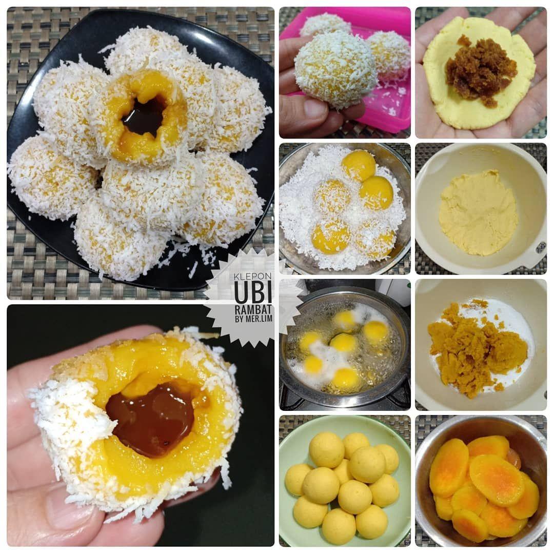 Meri Limatmaja Di Instagram Klepon Ubi Rambat Kue Kampung Isthebest Enak Bngt Yukbikinsendiri Made By Meri Ide Makanan Makanan Manis Makanan